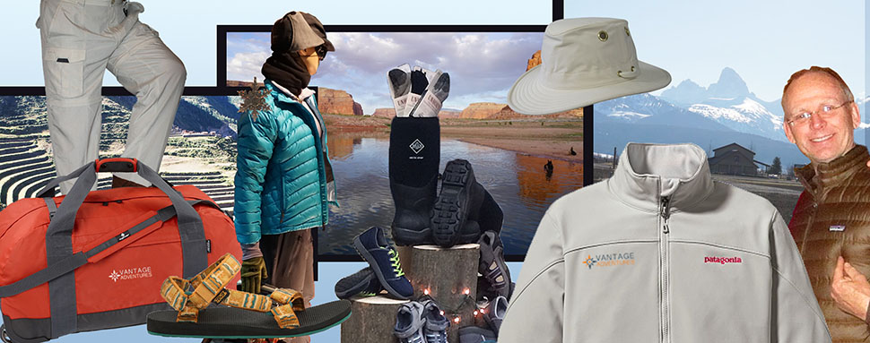 Vantage Adventures Essentials Shop gear and apparel with logos